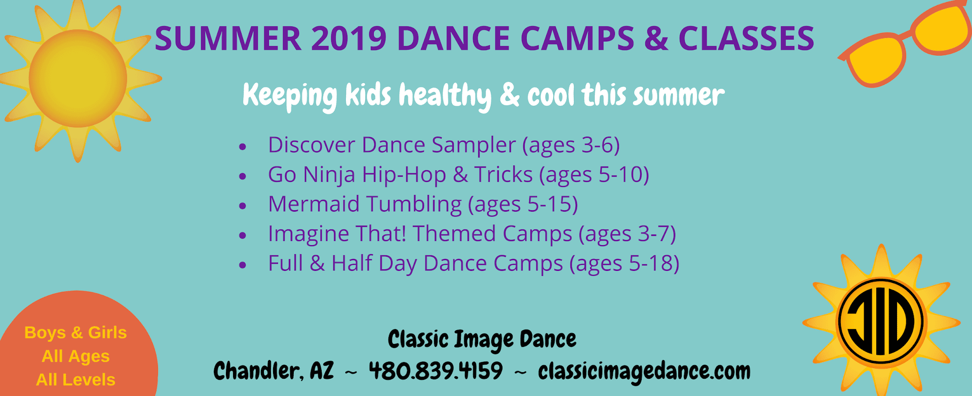 Summer camps and classes slide